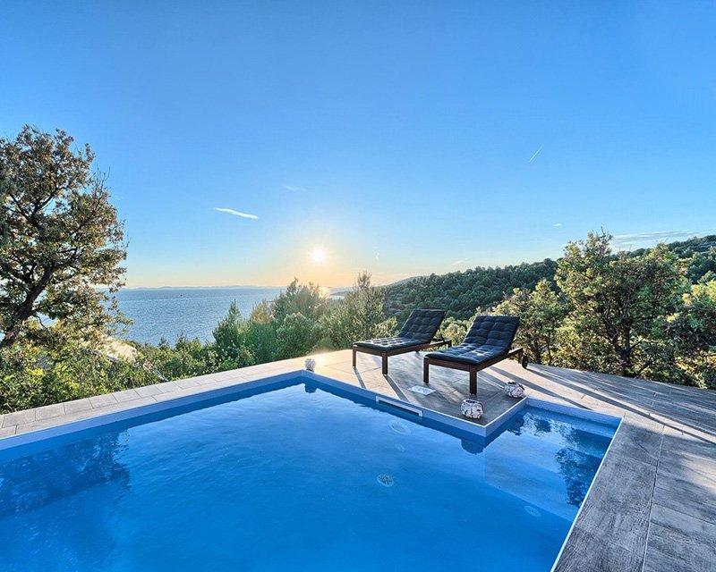 Bungalow for 4 sea view from terrace Golden Haven resort Murter Croatia