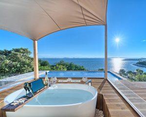 Glamping for 2 luxury terrace Golden Haven resort