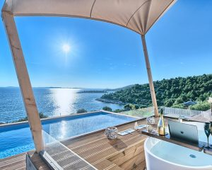 Glamping for 2 sea view from terrace Golden Haven Murter