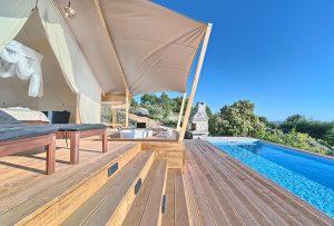 Glamping for 2 terrace Golden Haven