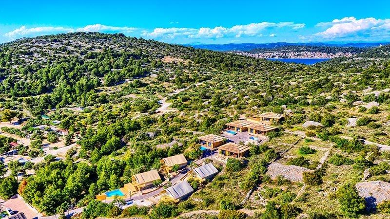 Golden Haven resort from air Croatia Murter