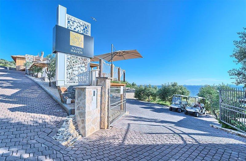 Golden Haven resort entrance Murter Croatia