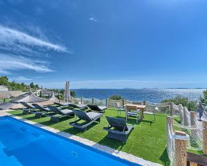 Villa Maria swimming pool with sea view Golden Haven Murter